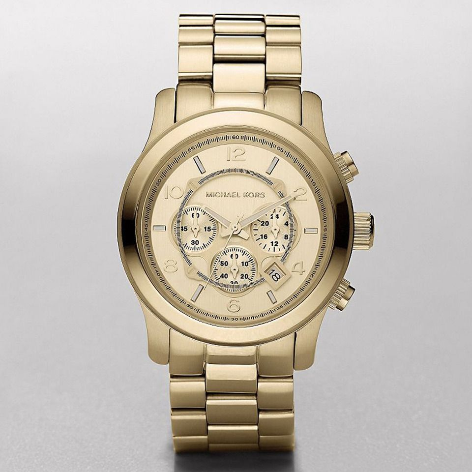 Michael kors menus chronograph watch in gold watch women michael