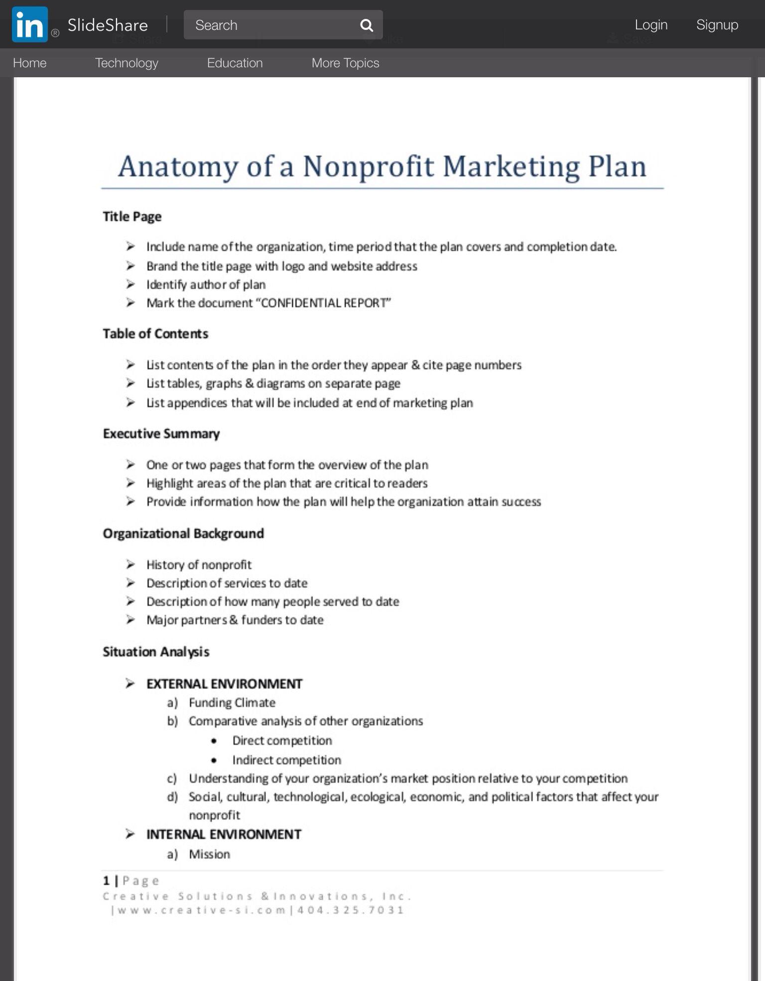 Anatomy Of A Nonprofit Marketing Plan Nonprofit Marketing Plan Nonprofit Marketing Marketing Plan Non profit marketing plan template