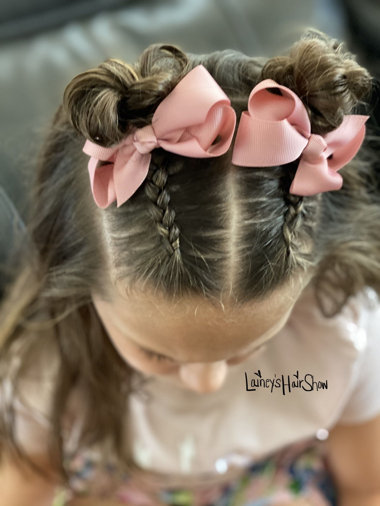 Double Messy Buns In 2020 Girl Hair Dos Kids Hairstyles Girls Kids Hairstyles