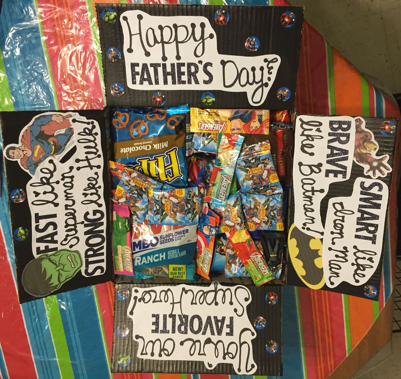 Super hero Father's Day care package Deployment care