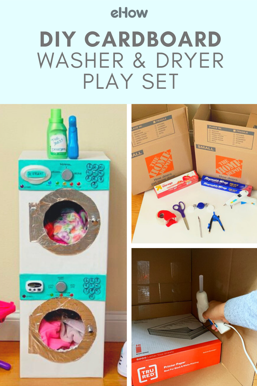 Diy Cardboard Washer Dryer Play Set Ehow Com Cardboard Crafts Kids Cardboard Box Crafts Recycled Toys