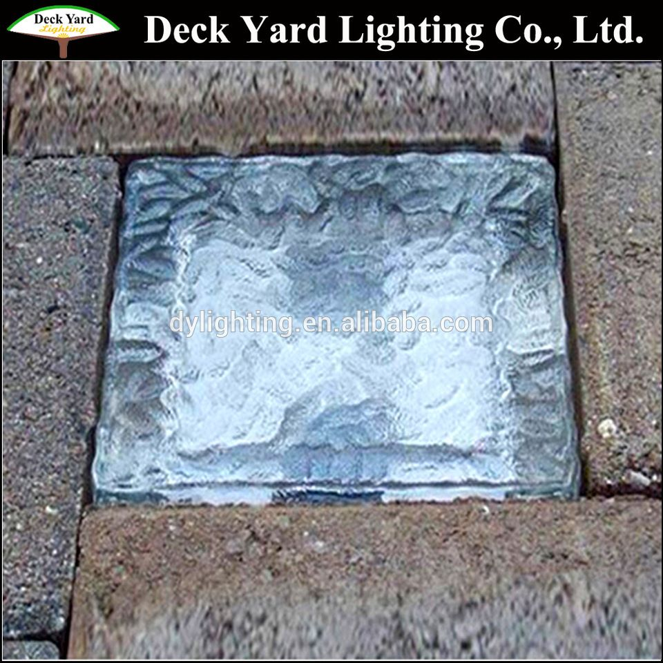 12v Solar Led Paver Light Retaining Wall Crystal Ice Brick Frosted Gl For Pathway Lighting