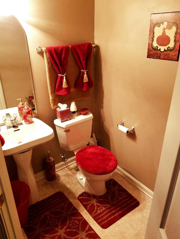 Red And Gold Guest Bathroom Decor Bathroom Design Tool Bathroom Decor Apartment Small Red Bathroom Decor Red bathroom design ideas