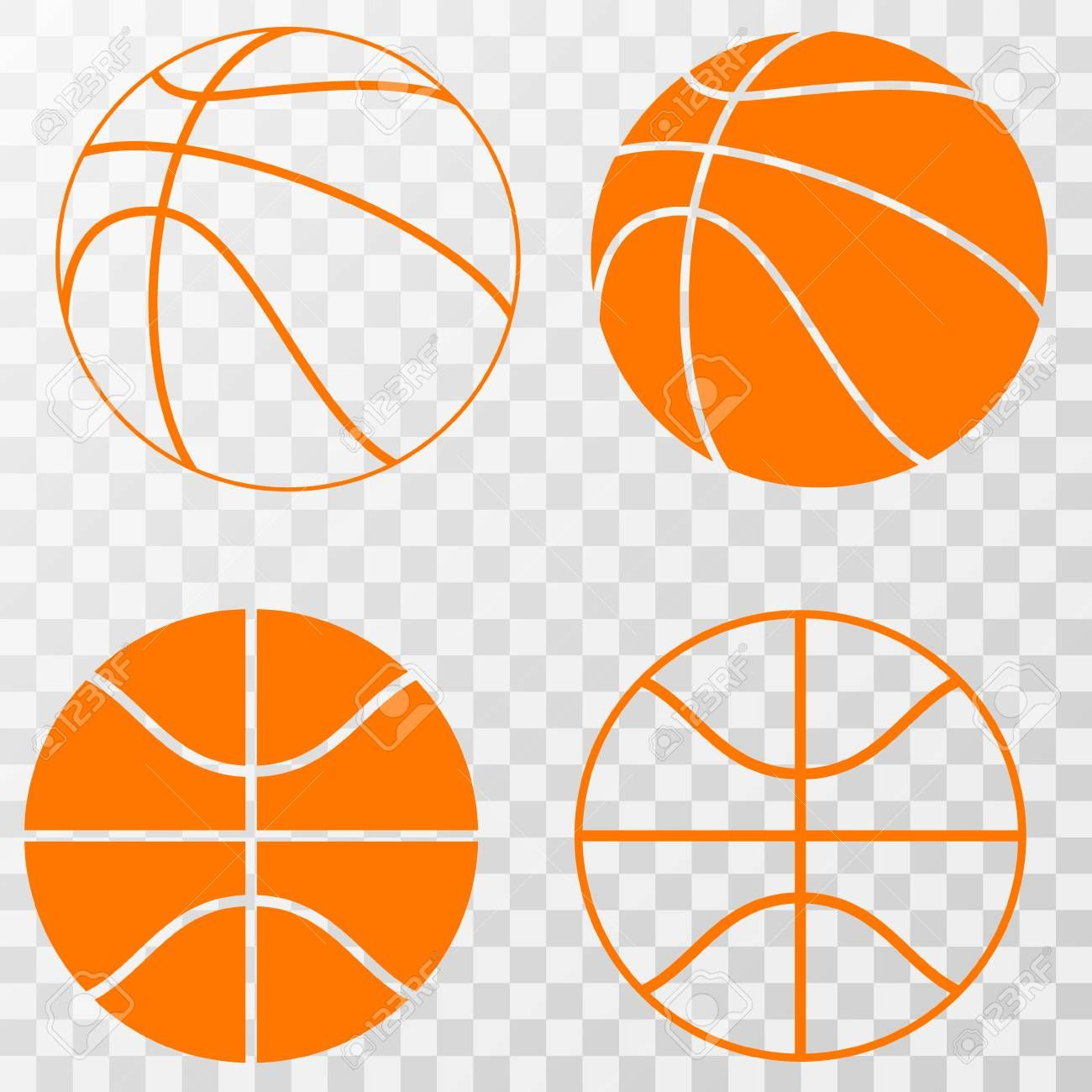 Basketball Icons Set Vector On Transparent Background Ad Set Icons Basketball Background Transparent Floral Illustrations Art Template Icon Set