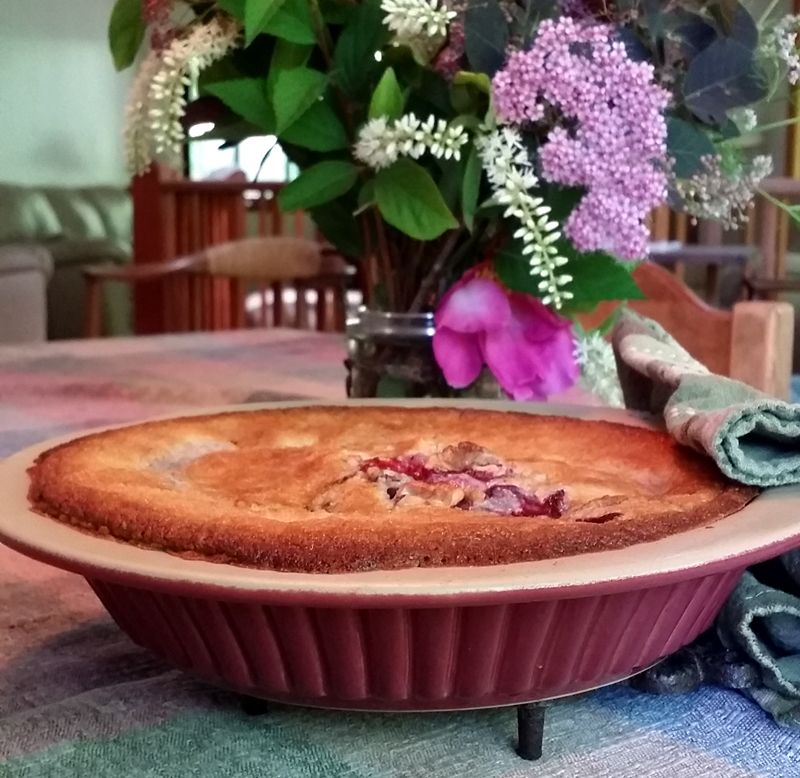 Artisan Pie Plate by Emerson Creek Pottery - Raspberry Glaze on Exterior (Interior Unglazed)