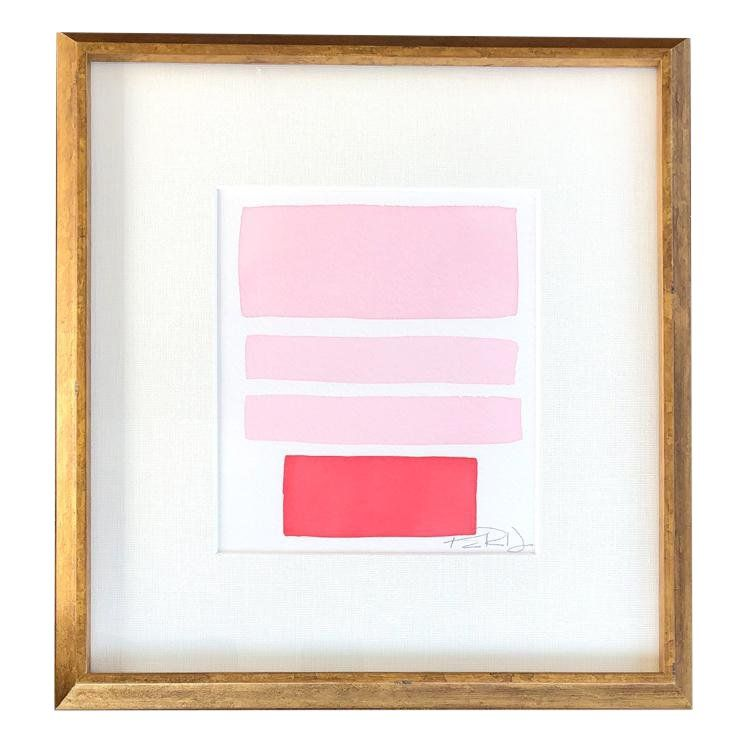 Pink Blocks Painting In 2020 Block Painting Painting Diy Art
