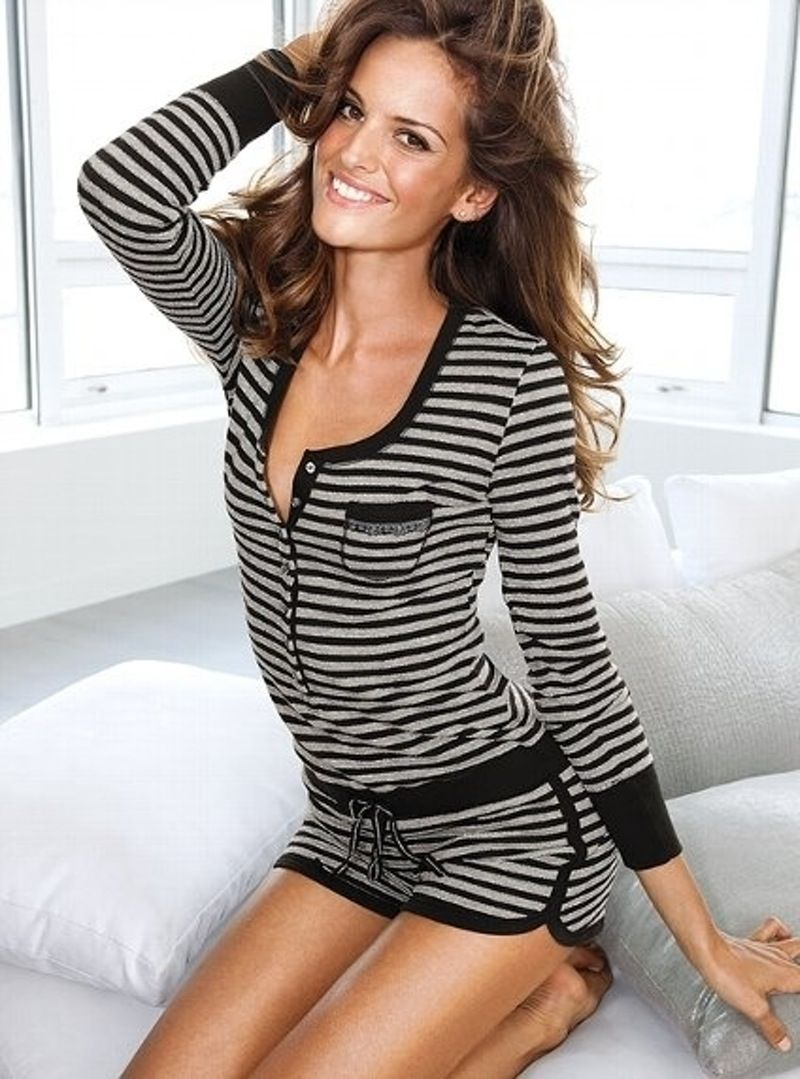 19a166a0febe 34 Cute  Pajamas You ll Never Want to Take off ... →  Fashion  Dreams  victoria Secrets striped romper PJs