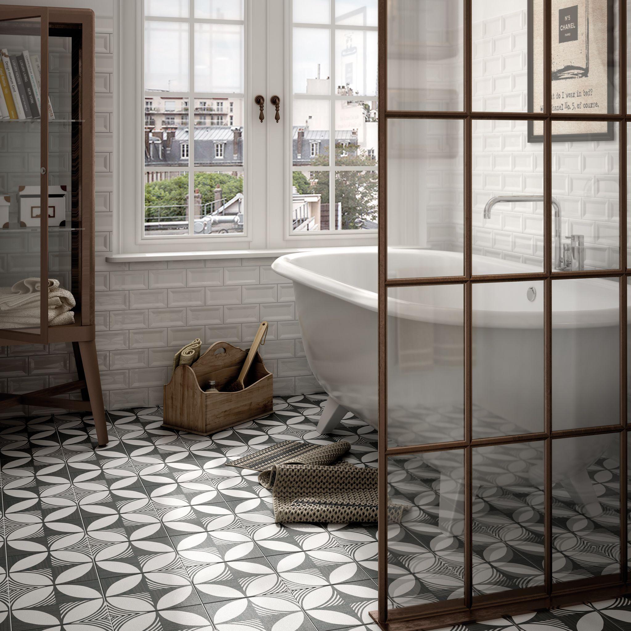 London Funk Patterned Bathroom Floor tiles. | Decorative Tiles ...