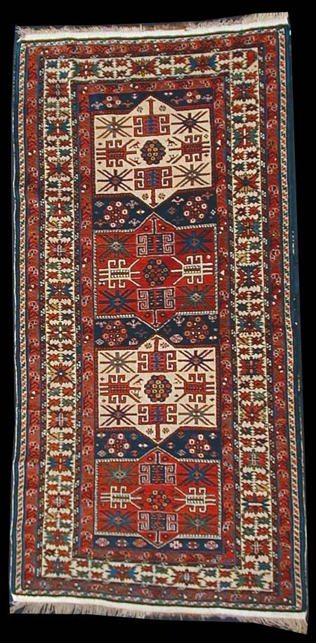 Antique Baku Rug Eastern Azerbaijan Early 20th Century Rugs Caucasian Rug Medallion Rug