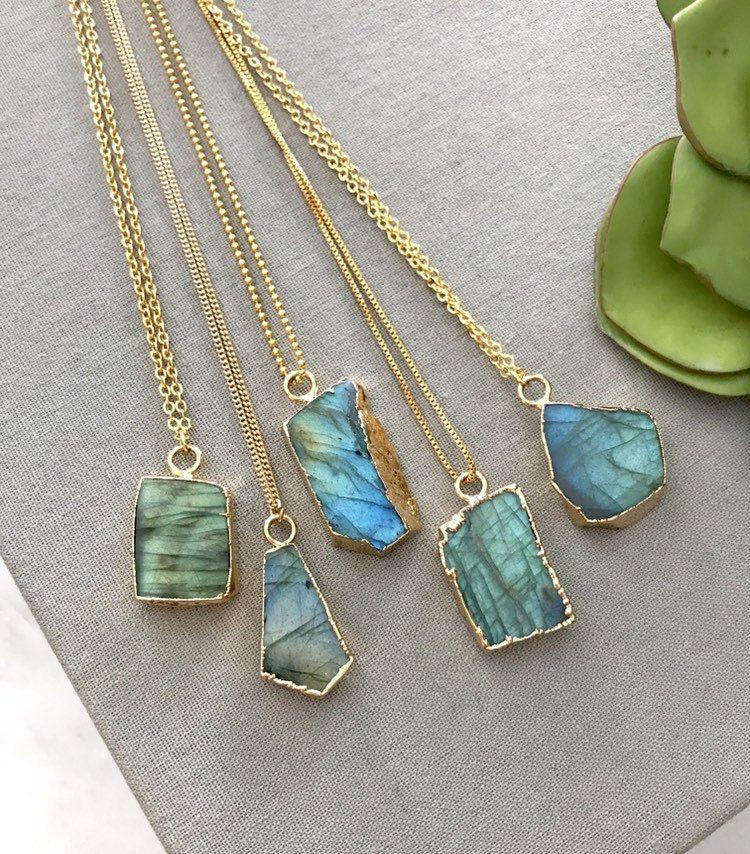 Gold Pendant Boho necklace Labradorite Labradorite Gold Necklace Labradorite Necklace Womens necklace Elegant Pendant Stone Necklace