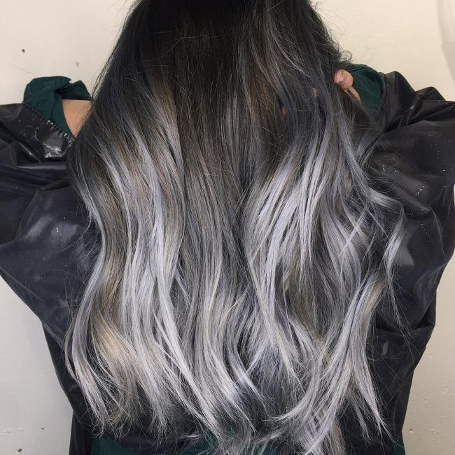 21 ombre grey hair looks new color stat pinterest cabello pelo gris y pelo blanco. Black Bedroom Furniture Sets. Home Design Ideas