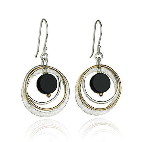 Long Multi Hoop 925 Sterling Silver Drop Earrings G6OgoUc62N