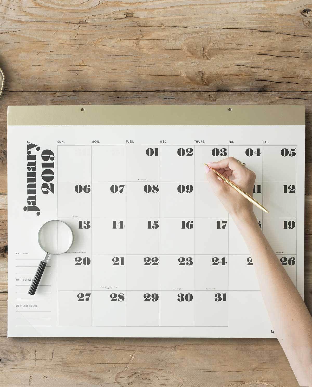 The Large Desk Pad Calendar Black Emily Meritt Emily Meritt Desk Calendar Pad Desk Pad Large Desk