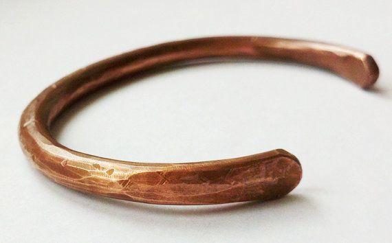 Hand Forged Copper Bracelet Size