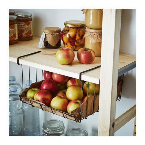 OBSERVATÖR Clip-on basket, gray-brown Kitchens, Organizations - ikea küche katalog