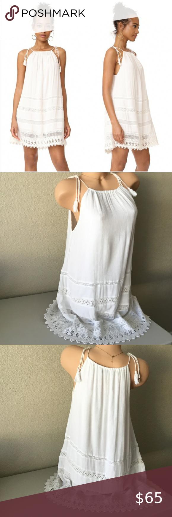 Alice Olivia Danna White Tie Strap Lace Dress Lace Dress Beautiful White Dresses Dresses [ 1740 x 580 Pixel ]
