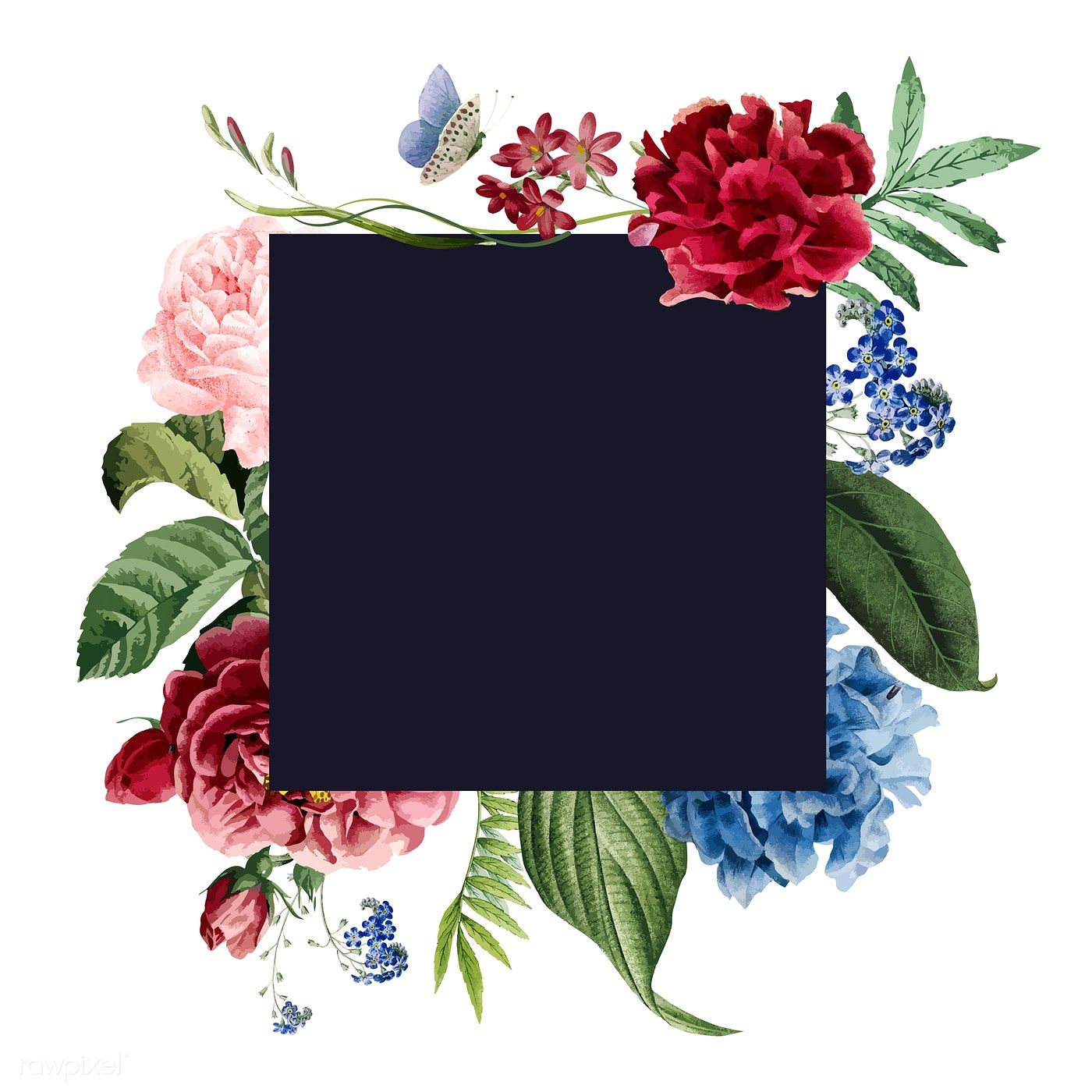 Download Premium Illustration Of Floral Frame Invitation Card