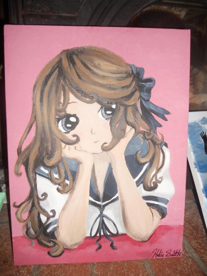 Anime Painting Acrylic Art