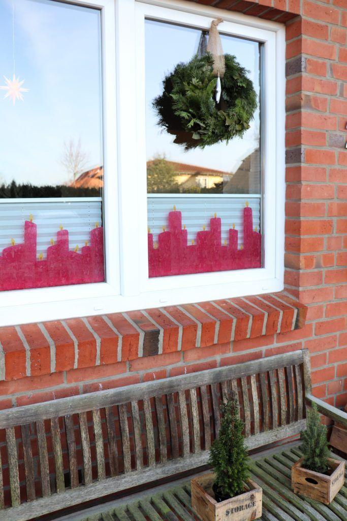 Weihnachtliche Fensterdeko: Transparentpapier-Kerzen basteln - Lavendelblog