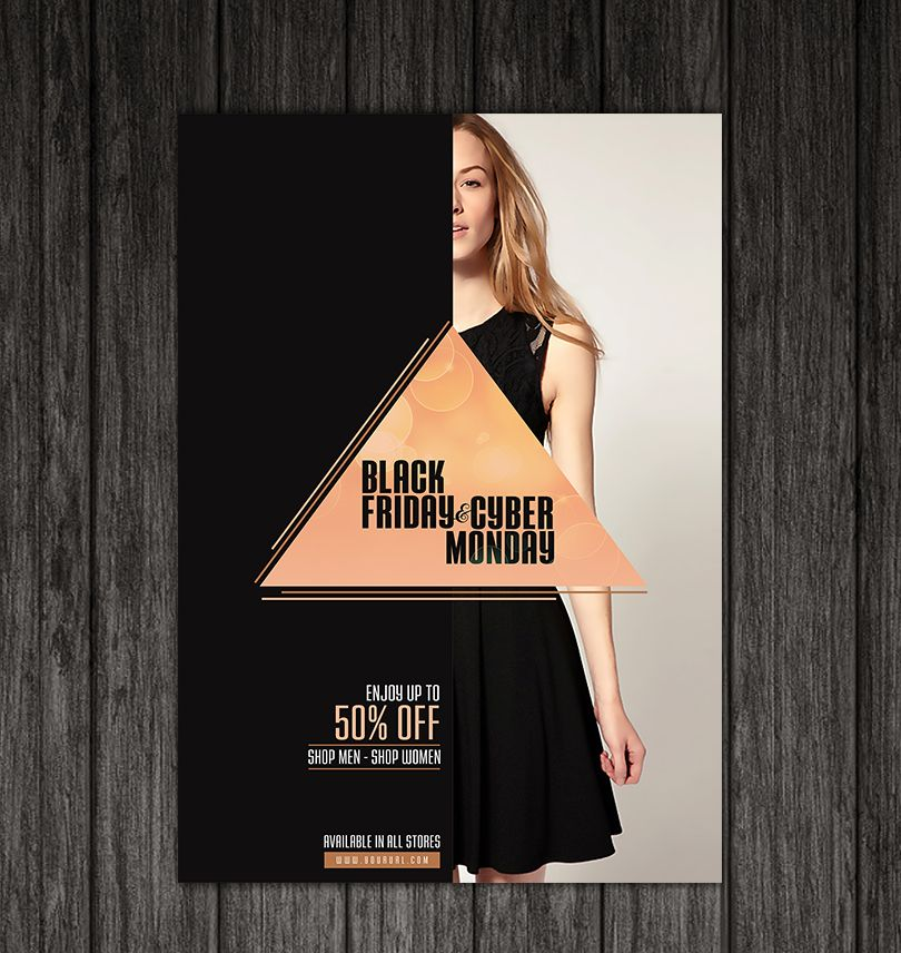 black-friday-and-cyber-monday-flyer-template-design-2 Brochures - black flyer template