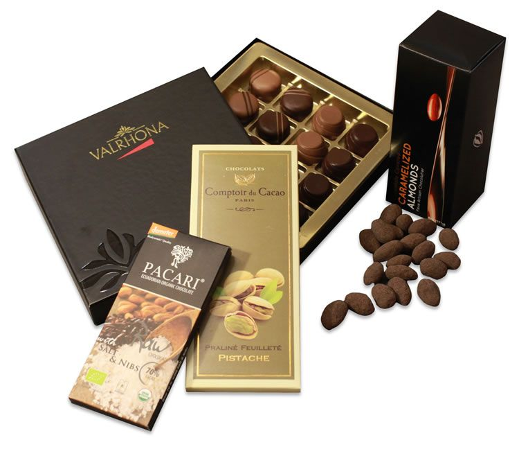 Artisan Chocolate Treats Gifts Chelsea Market Baskets Chocolate Gifts Chocolate Covered Almonds Chocolate Treats