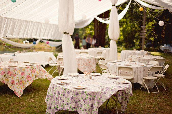 Backyard Wedding Bohemian Table Decor Wedding Tablecloths Backyard Wedding