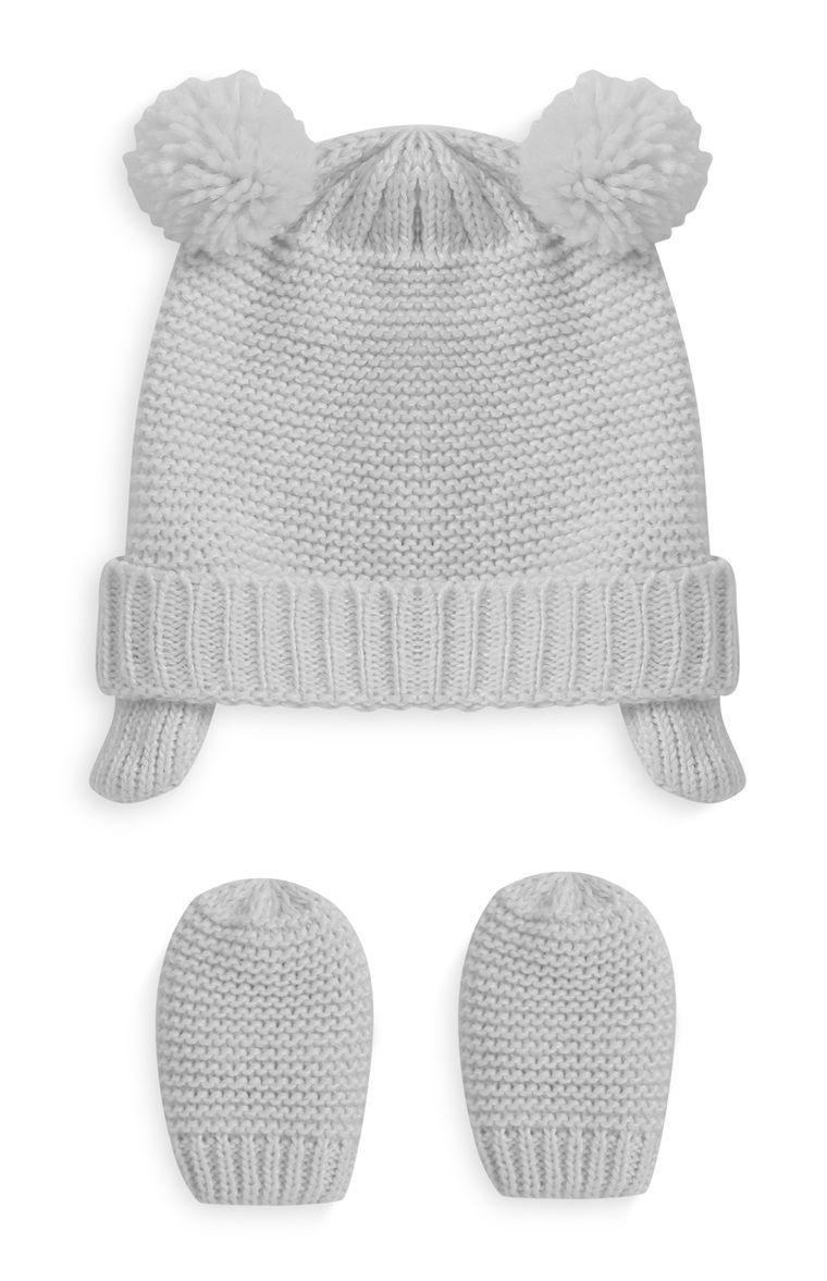 e614599ac2247 Primark - Gorro y manoplas blancas de bebé