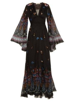 Flower-print embroidered gown | Etro | MATCHESFASHION.COM US