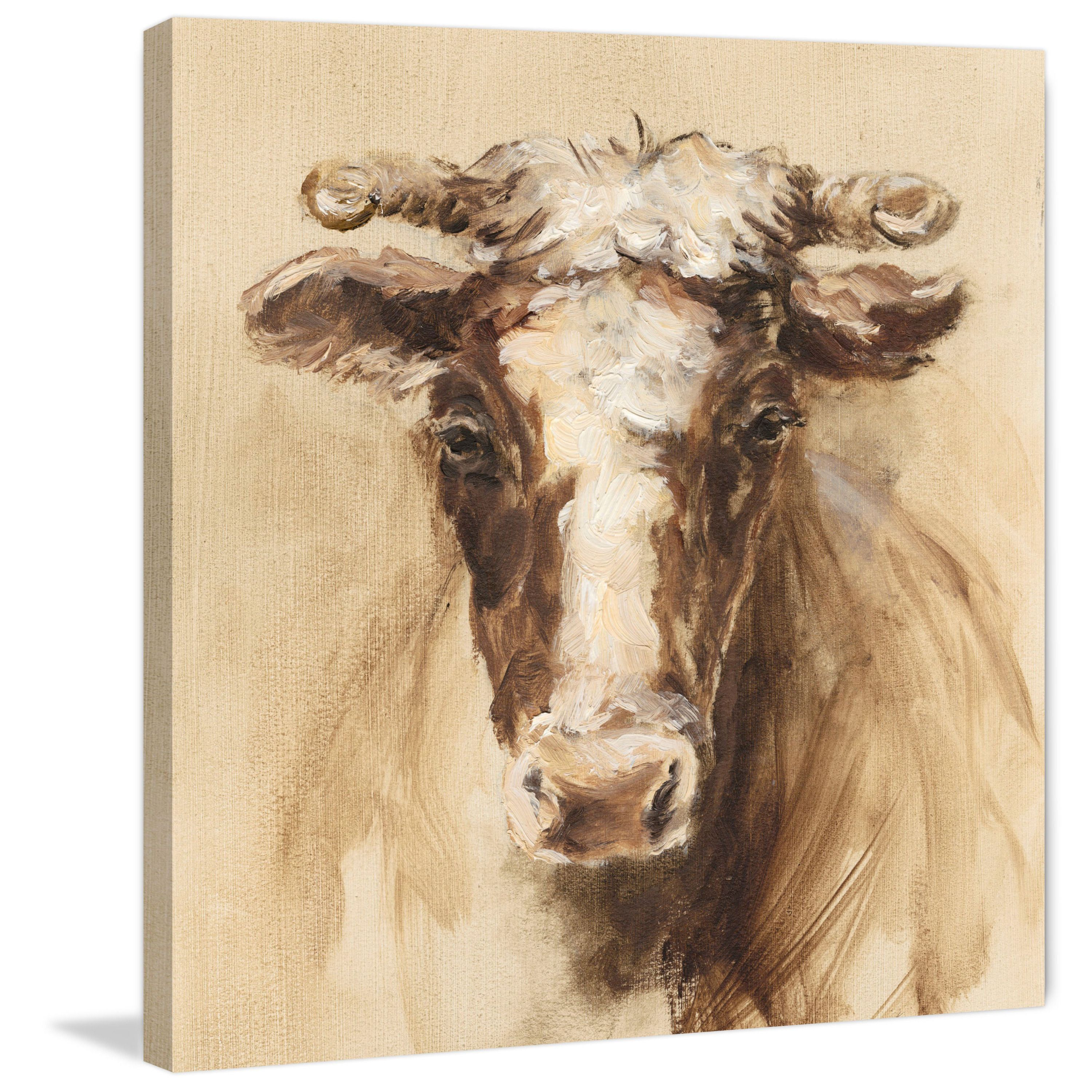 Marmont Hill - 'Shaded Cow' Painting Print on Wrapped Canvas