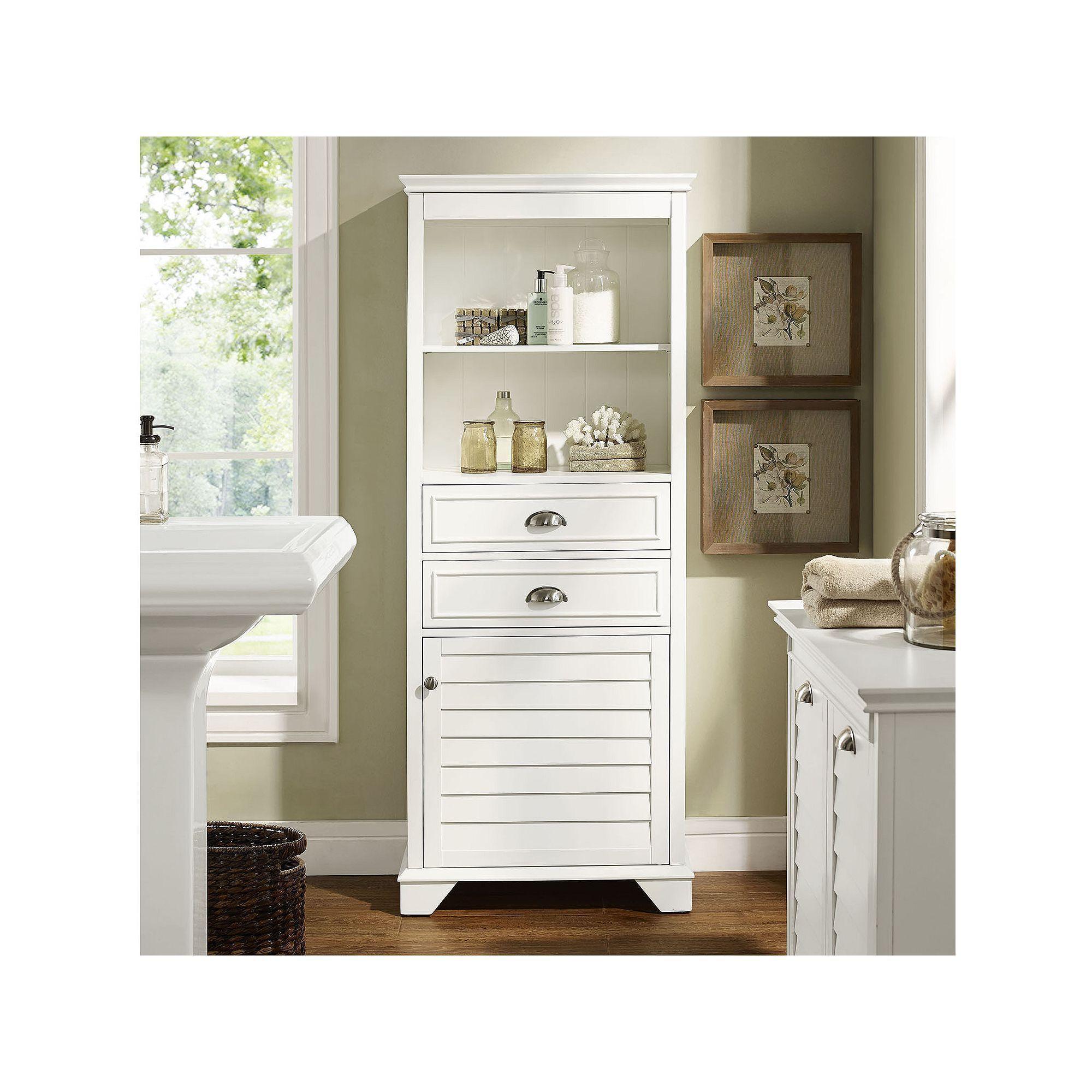 Lydia Tall White Tall white bathroom