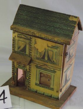 SMALL PAPER DOLL HOUSE OVER WOOD : Lot 33