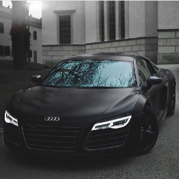 Best 77 Audi R8 Super Sports Car Collections. Matte Black ...