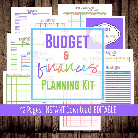 Budget Planner Printable, Letter Size printables for your Budget
