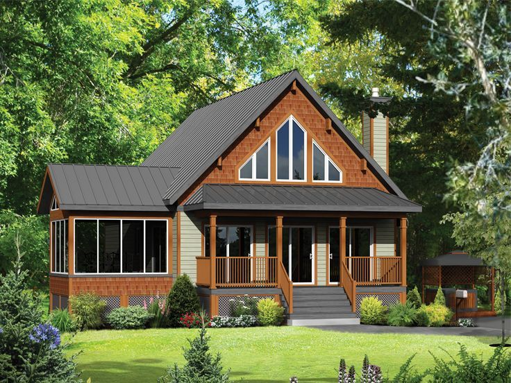 4 bed, 1.5 bath, basement Small Country House Plan, 072H