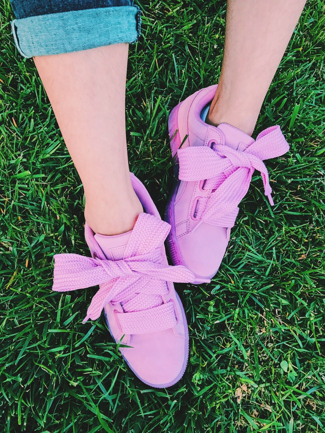 Basket Bow Puma Women's Pink Heart Suede Reset Prism Leather Laces Yb7yIf6gvm