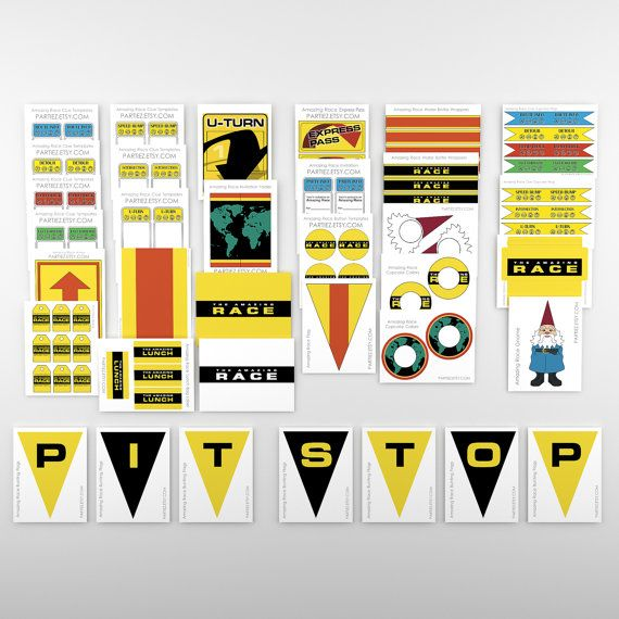 Sale 80 Off The Amazing Race Party Printables Customizable Clue Cards Invitation Envelopes Signs And More Amazing Race Party Amazing Race Race Party