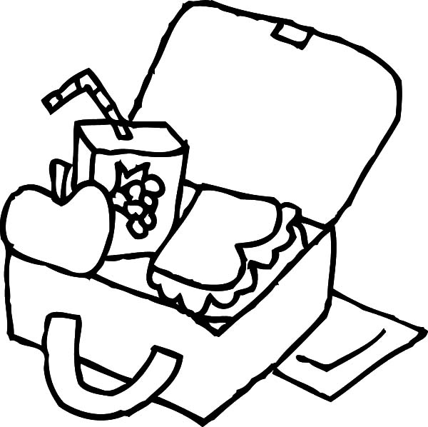 33++ Lunch box clipart black and white ideas in 2021
