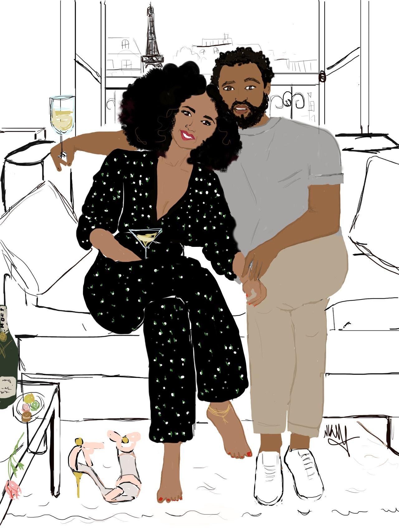 Black lovers in paree love you paris
