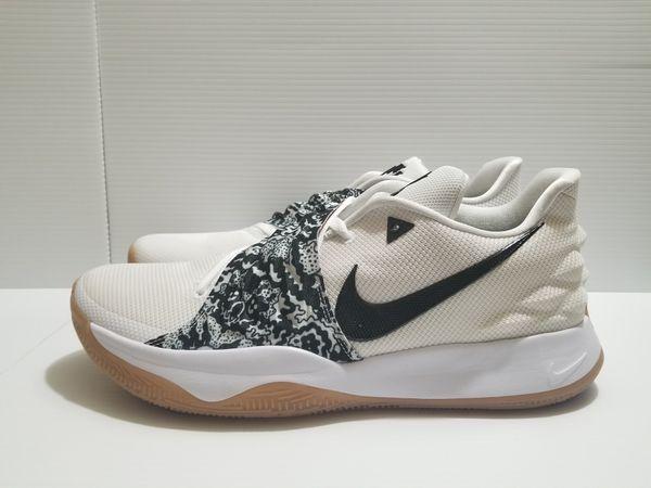 sale retailer c6f33 c4ea3 Nike Kyrie IV 4 Low White Black Gum Bottom Irving Shoes ...