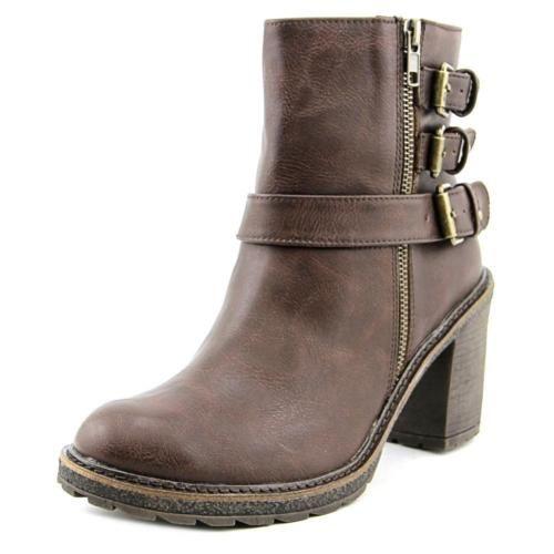 Mia Nata Round Toe Synthetic Ankle Boot Black 144b
