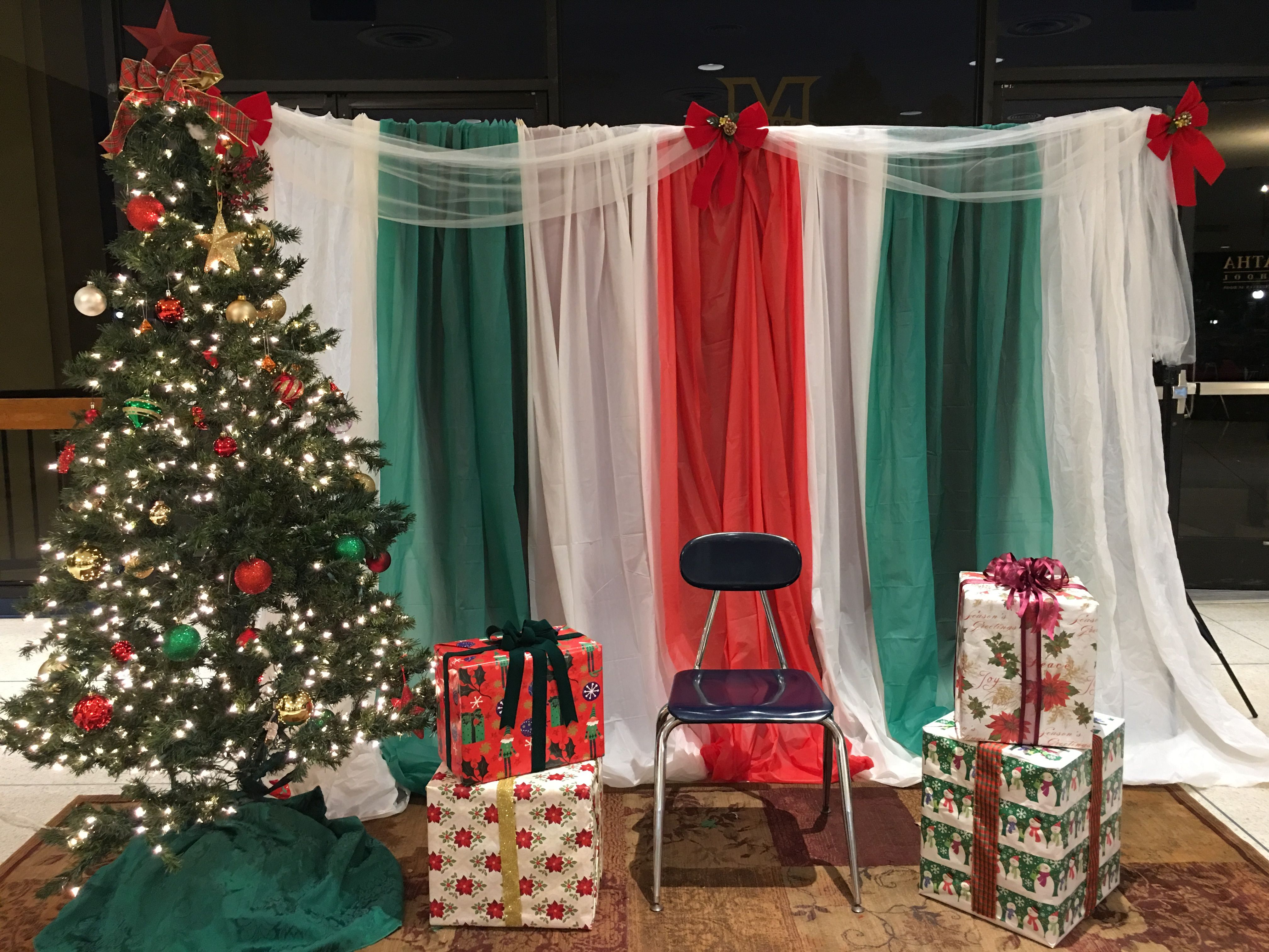 Christmas picture backdrop ideas