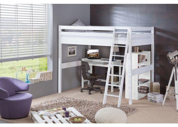 hochbett campus buche massiv weiss lackiert 140x200cm bild 1 wohnung pinterest hochbett. Black Bedroom Furniture Sets. Home Design Ideas