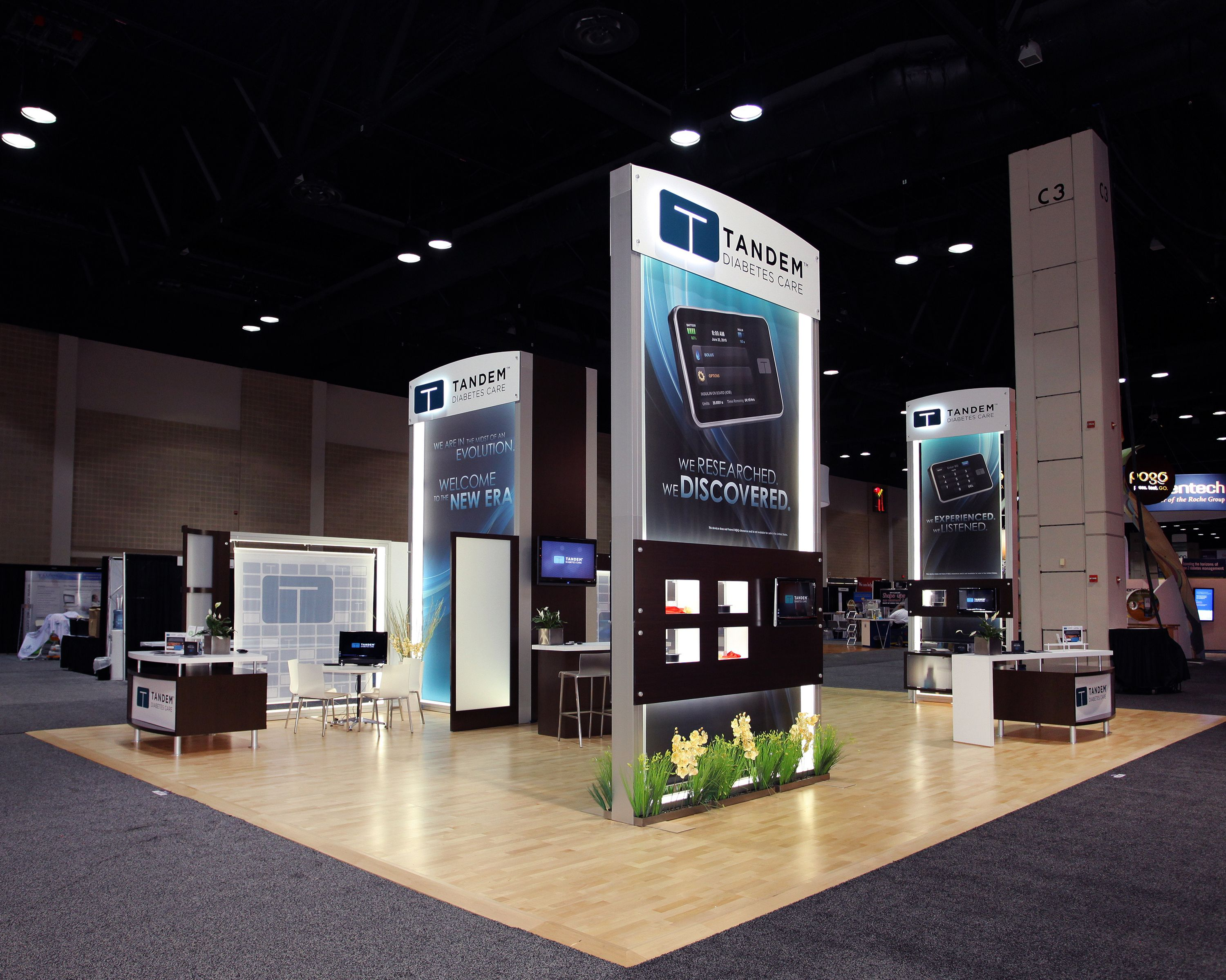 Custom Exhibition Stand Ideas : Sqft custom trade show display for tandem
