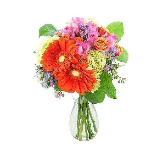 KaBloom Daisy Spring Step Fresh Flower Arrangement ($39) ❤ liked on ...
