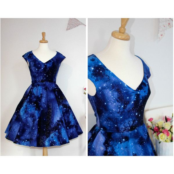 Space dust dress, galaxy dress with pockets, star wars dress, 50s ...