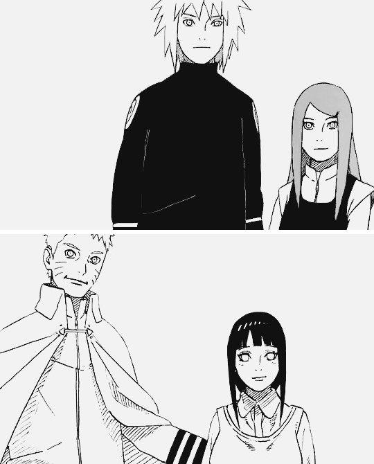 Minato and Kushina and Naruto and Hinata