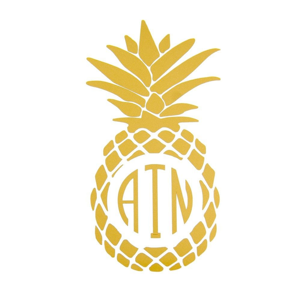 pineapple monogram decal from handpicked pineapples pinterest monogram decal monograms. Black Bedroom Furniture Sets. Home Design Ideas