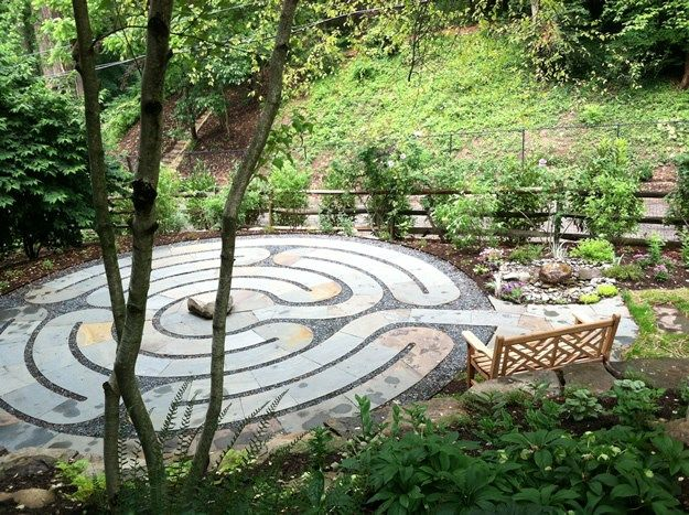 Labyrinth Overview Claire Jones Landscapes Llc Sparks Md Designs Pinterest Gardens Garden Ideas And Small