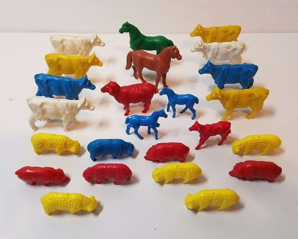 Details about Vintage Lido Plastic Figures 60s 70s Farm Barn