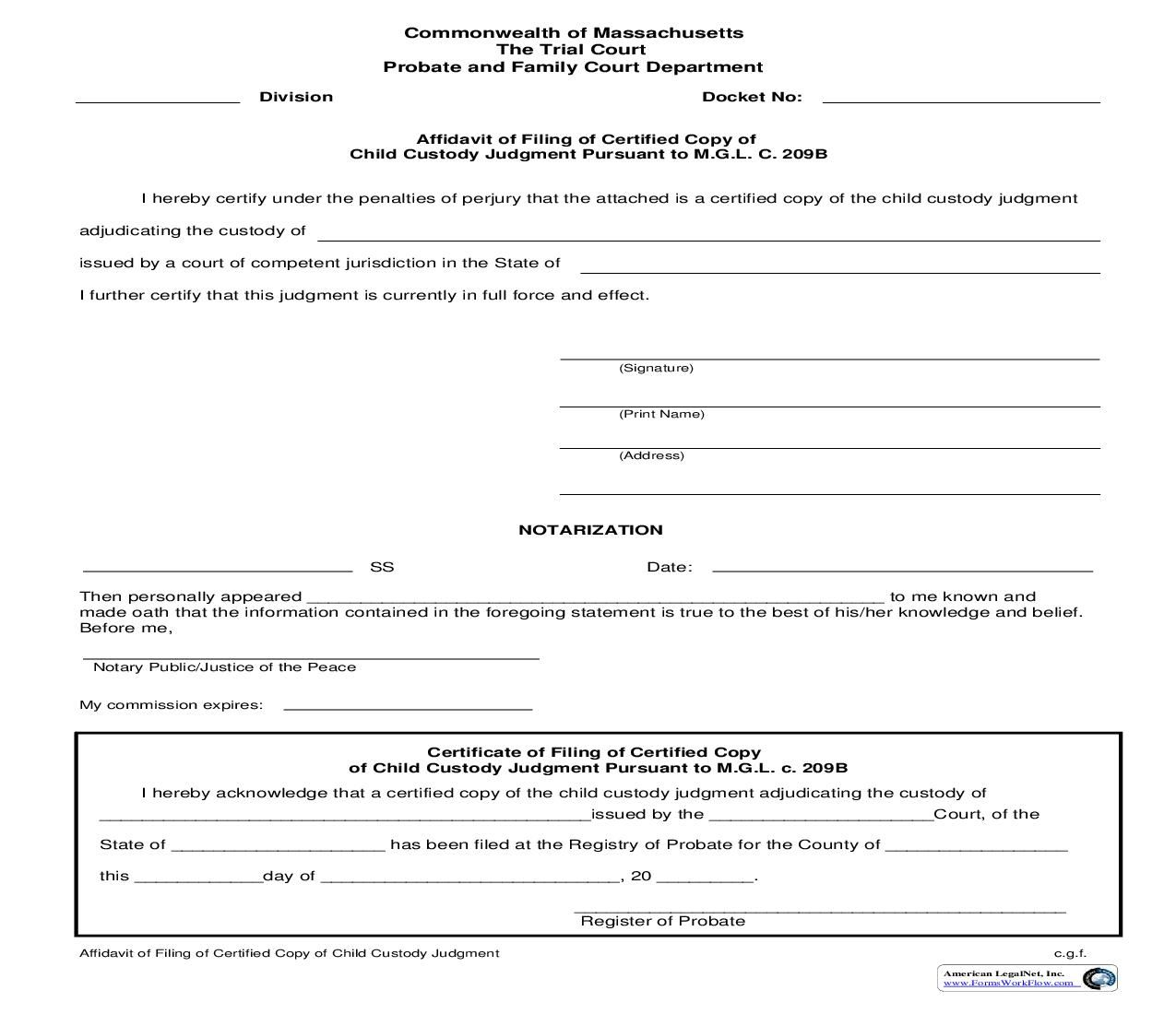 This Is A Massachusetts Form That Can Be Used For General Within